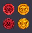 set signs symbol aztecs maya culture
