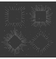 set vintage squared and rhombus shaped vector image