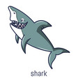 shark icon cartoon style vector image vector image