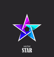 star flat 3d abstract symbol popularity concept vector image