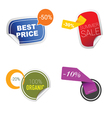 sticker of summer sale in colorful vector image vector image