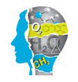 student chemistry paper collage silhouette vector image vector image
