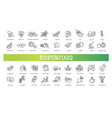 superfoods line icons organic vector image vector image