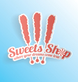 Sweets Shop Candy Label vector image vector image