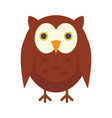 teaching owl in flat style vector image vector image