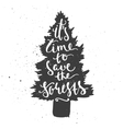 Time to save forests lettering in conifer tree vector image vector image