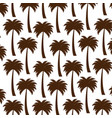 tree palms pattern background vector image