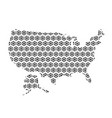 united states of america map abstract schematic vector image vector image