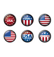usa buttom set with american flag vector image vector image