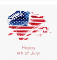 usa independence day background happy 4th of july vector image vector image