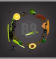 vitamin b9 background vector image