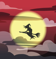 witch on red sky vector image vector image