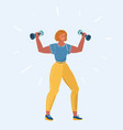 woman doing exercises vector image vector image
