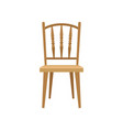 wooden chair design element for home interior vector image vector image