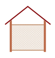 wooden house for the well vector image