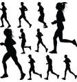 runner silhouette run vector image