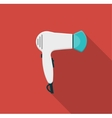 Hairdryer flat icon with long shadows vector image