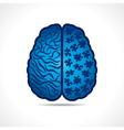 Conceptual idea - Brain with puzzle pieces vector image