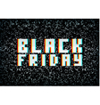 3D stereo effect black friday sale banner vector image vector image