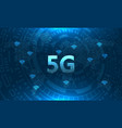 5g network global earth communications technology vector image