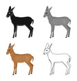 a young wild antelope a wild-footed animal of an vector image