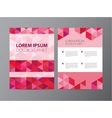 abstract crystal pink red modern flyer vector image vector image