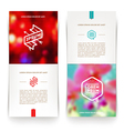 abstract vertical banners with hipster emblems vector image vector image