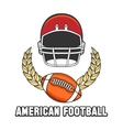 American football logo emblem vector image vector image