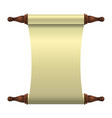 an empty scroll is an unfolded scroll unrolled vector image vector image