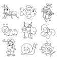 animals coloring vector image vector image