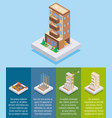 apartment construction flat isometric vector image