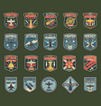 army chevrons stripes for fighter squadron vector image vector image
