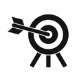 Arrow hit the target icon simple style vector image