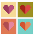 assembly flat icons poker hearts suit vector image vector image