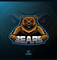 bear sport mascot logo design