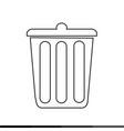 bin symbol icon design vector image