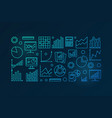 business analysis blue vector image vector image
