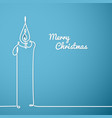 christmas card - continuous line drawing vector image vector image