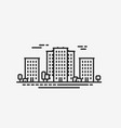 city icon cityscape construction building vector image