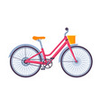 classic city bicycle ecological sport transport vector image vector image