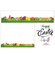 colorful hand painted easter eggs on grass vector image