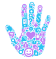concept human hand vector image vector image