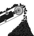 Conveyor belt with coal vector image