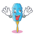 Crazy feather duster character cartoon
