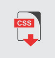 css icon flat vector image vector image