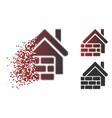 disappearing dot halftone realty brick wall icon vector image vector image