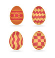 easter eggs set different schemes of coloring vector image vector image