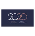 elegant 2020 happy new year and happy christmas vector image vector image