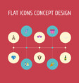 flat icons couple posy sexuality symbol and vector image vector image