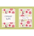 Floral business cards vector image vector image